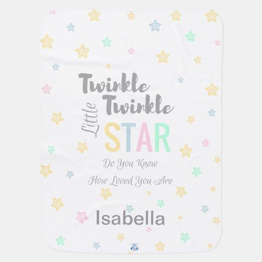 Personalised Twinkle Twinkle Little Star Boy/Girl Baby Blanket