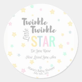 Personalised Twinkle Twinkle Little Star - Sticker