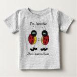 Personalised Twins Ladybug Friends Infant T-Shirt