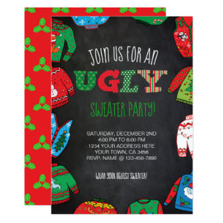 Personalised Ugly Sweater Party Invite