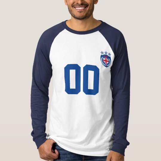 Personalised UK Sport Jersey Long Sleeve Raglan T-Shirt