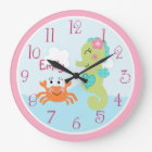 Personalised Under the Sea life Seahorse Clock