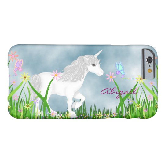 Personalised Unicorn and Flowers iPhone 6 Case