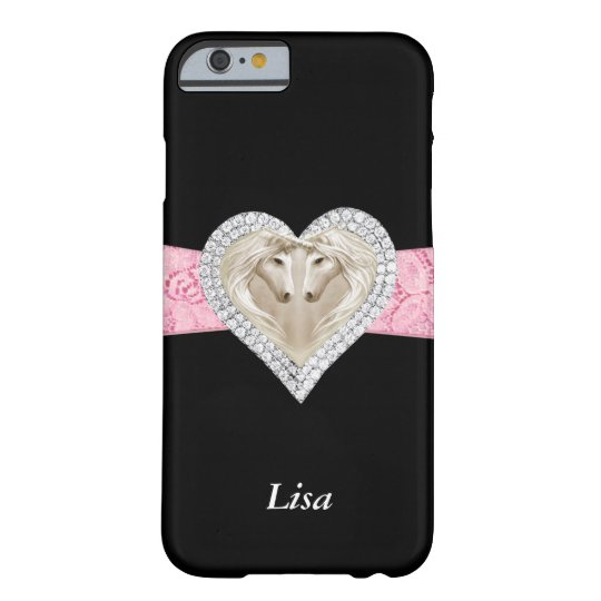 Personalised Unicorn Pink Lace iPhone 6 Case