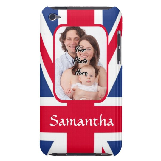 Personalised union jack barely there iPod covers