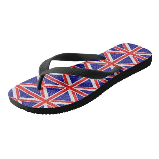 Personalised Union Jack Flag Design Flip Flops