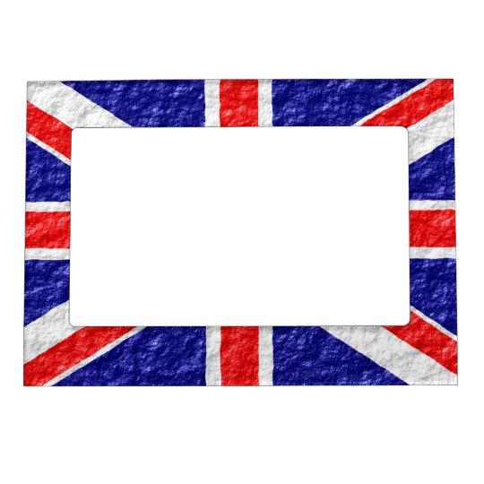 Personalised Union Jack Flag Design Magnetic Frame