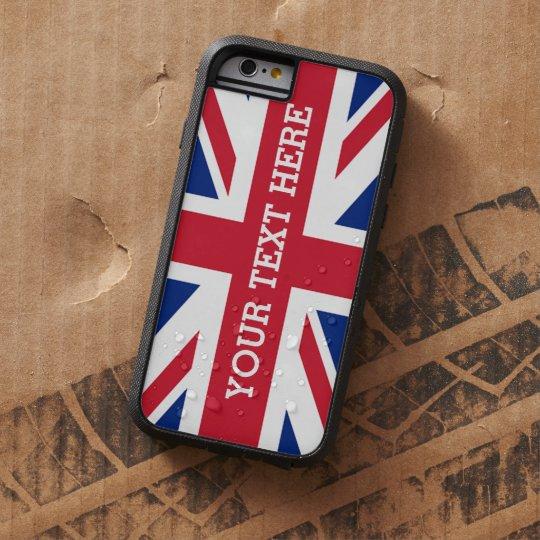 Personalised Union Jack Flag Tough Xtreme iPhone 6