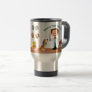 0c8eaf94593 Personalised Unique Veterinarian Gifts, Man Vet Travel Mug