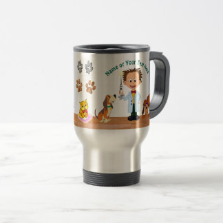 Personalised Unique Veterinarian Gifts, Man Vet Travel Mug