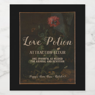 Personalised Vintage Apothecary Jar Love Potion Wine Label