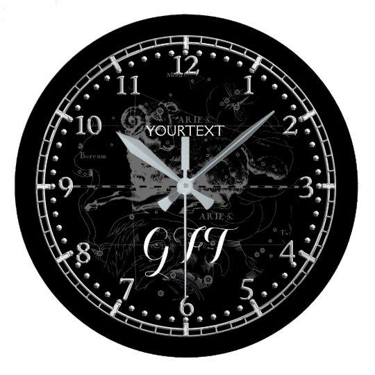 Personalised Vintage Aries Constellation Zodiac on Large Clock