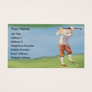 Vintage golf business cards business card printing zazzle uk personalised vintage golfer by the riverbank business card reheart Choice Image
