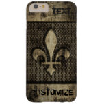 Personalised Vintage Grunge  Fleur De Lis Barely There iPhone 6 Plus Case
