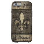 Personalised Vintage Grunge  Fleur De Lis Tough iPhone 6 Case
