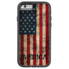 Personalised Vintage Grunge 'Merica Flag Tough Xtreme iPhone 6 Case