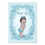 Personalised Vintage Prince Baby Shower Thank You 9 Cm X 13 Cm Invitation Card