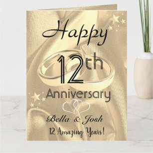 Wife 12th Anniversary Gifts Gift Ideas Zazzle Uk