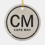 Personalised Vintage Style Cape May NJ Ornament