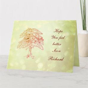 Personalised Vintage style Get Well Card
