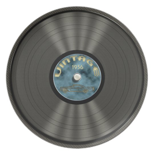 Personalised Vintage Vinyl Record Dinner Plates
