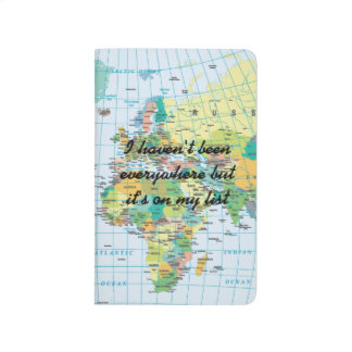Personalised Vintage World Map Travel Journals