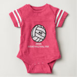Personalised Volleyball Player Number, Name, Team Baby Bodysuit