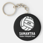 Personalised Volleyball Player Number, Name, Team Basic Round Button Key Ring