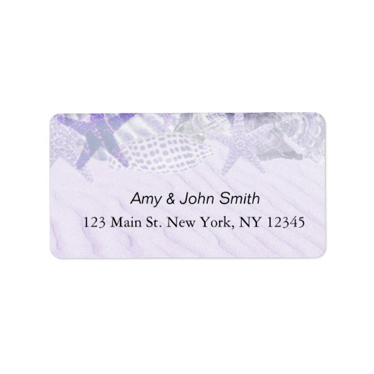 Personalised wedding address labels