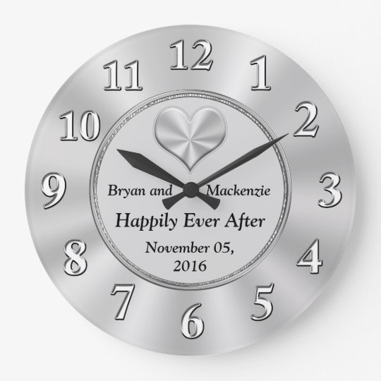 Personalised Wedding Anniversary Gift Ideas CLOCK
