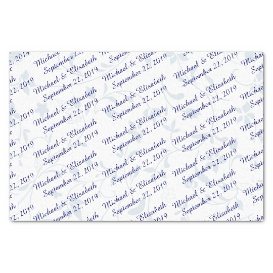 Personalised Wedding - Blue Tissue Paper