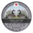 Personalised Wedding Date Anniversary, Geese Plate