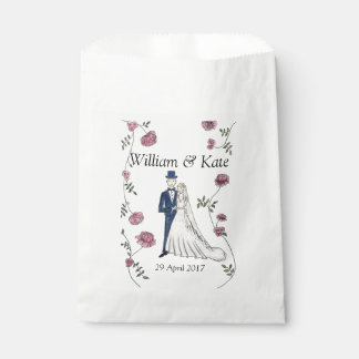 Personalised Wedding Favour Paper Bags