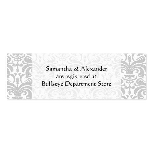 Wedding Gift Registry Ideas Uk Personalised Cards Insert Pack Of