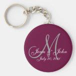 Personalised Wedding Keepsake Key Chain