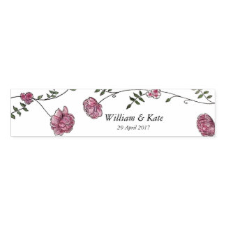 Personalised wedding napkin band set of 12