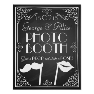 Personalised wedding  photo booth sign chalkboard