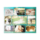 Personalised Wedding Photo Collage Wall Art