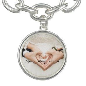 Personalised Wedding Photo Forever & Always Bracelet