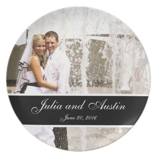 Personalised Wedding Photo Keepsake Plate