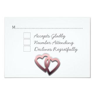 Personalised Wedding RSVP 9 Cm X 13 Cm Invitation Card