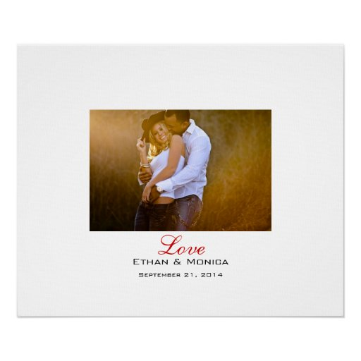 Personalised Wedding Signature Canvas Poster