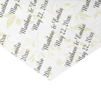 Personalised Wedding Tissue Paper