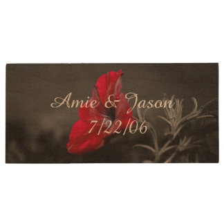 Personalised wedding usb drive with flower print