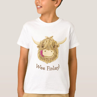 Personalised Wee Hamish Highland Cow T-Shirt