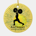 Personalised Weight Lifter Ornament