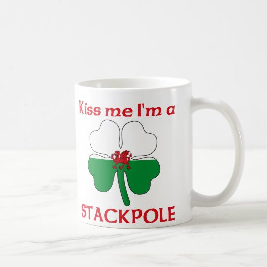 Personalised Welsh Kiss Me I'm Stackpole Coffee Mug