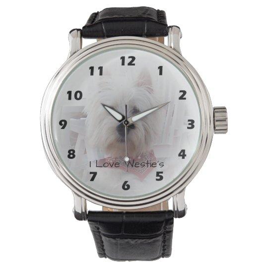 Personalised West Highland Terrier Design Wrist Watch