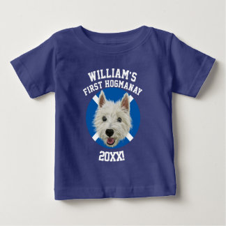 Personalised West Highland Terrier First Hogmanay! Baby T-Shirt