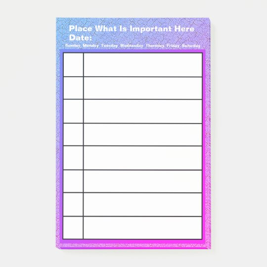 Personalised What You Need To Do List Post-it Notes